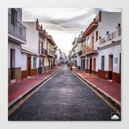 Cloudy Day, Nerja Canvas Print