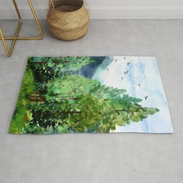 Mountain Forest Rug