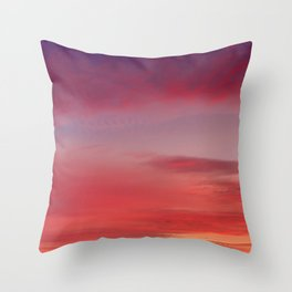 Sunset and Fishermen Throw Pillow
