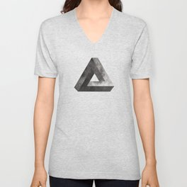 Penrose Triangle Moon Unisex V-Neck