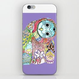 Owl Snap Back iPhone Skin