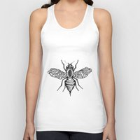 bee Tank Tops featuring Bee by Aubree Eisenwinter