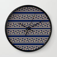 greek Wall Clocks featuring Greek by Mr and Mrs Quirynen