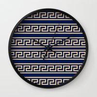 greek Wall Clocks featuring Greek by Mr & Mrs Quirynen