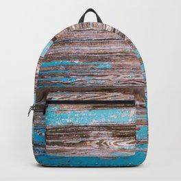Old Blue Wood Backpack