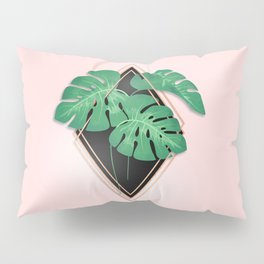 Palm Leaf Abstract Pillow Sham