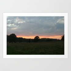 Valley Forge at Dusk Art Print