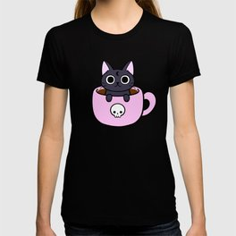 Pastel Coffee Cat T-shirt