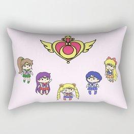 Inner Senshi Chibi 2 Rectangular Pillow