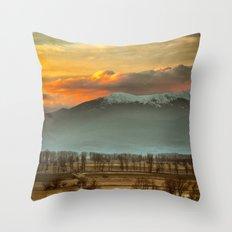 Sunset field II Throw Pillow