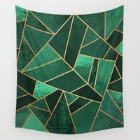 copper Wall Tapestries featuring Emerald and Copper by Elisabeth Fredriksson