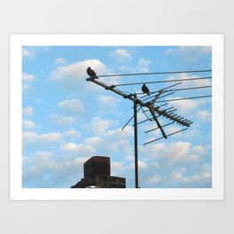 birds eye view! ~ sky and clouds Art Print