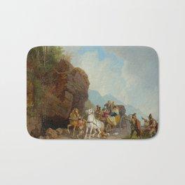 BÜRKEL, HEINRICH (Pirmasens 1802 - 1869 Munich) The coach ambush. Bath Mat