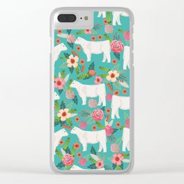 Charolais cattle farm must have gifts homesteader cow breeds florals Clear iPhone Case