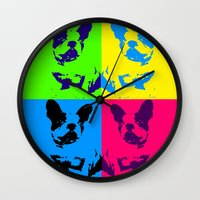 doge Wall Clocks featuring doge by vidikay