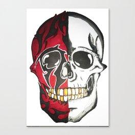 twofaced skull Canvas Print