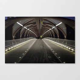 Calgary Peace Bridge Morning Commute Canvas Print