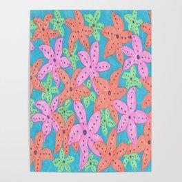 Tropical Starfish Print Poster