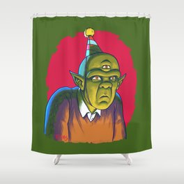 Totally Not Feelin' This Party Shower Curtain