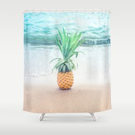 Happy Pineapple Shower Curtain