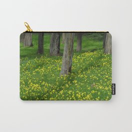 Wild Yellow Oxalis Flowers Carry-All Pouch