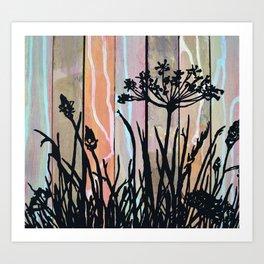 Paint your own garden Art Print