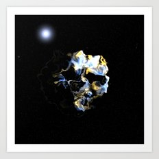 Ghostly Nebulae Art Print