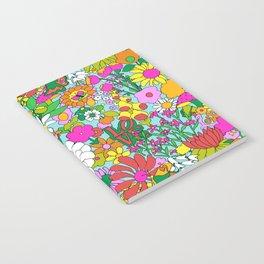 60's Groovy Garden in Blue Notebook