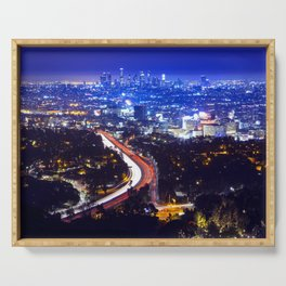 Midnight Los Angeles Serving Tray