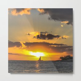 Sunset, Key West, Florida Metal Print
