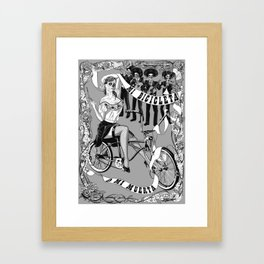 My Bicycle or My Death Framed Art Print