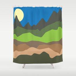 Green mountain tops Shower Curtain