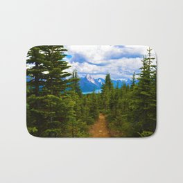 Maligne Lake from Above on the Bald hills hike in Jasper National Park, Canada Bath Mat