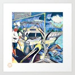 Charter Boat Row Art Print