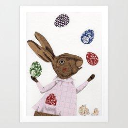 Hare-y Adventures Art Print