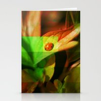 ladybug Stationery Cards featuring Ladybug  by SensualPatterns
