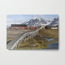 Svalbard buildings Metal Print