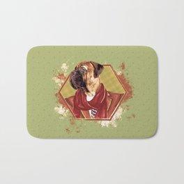 Hipster Bullmastiff dog Bath Mat