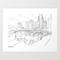 tokyo Art Prints featuring Tokyo by Jonas Ericson
