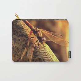 Elegant Red Darter Dragonfly Carry-All Pouch