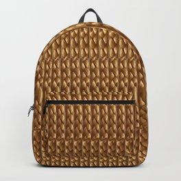 Dark Blonde Braided Texture Backpack
