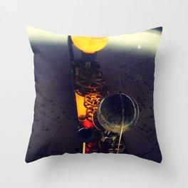Sun and Earth Clock Throw Pillow
