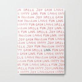 Love's Words Metal Print