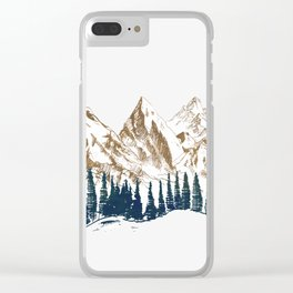 mountains 9 Clear iPhone Case