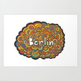 Berlin Bubbles Art Print