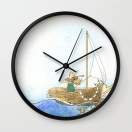 Maritime Festival Celebration Wall Clock