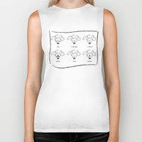 moustache Biker Tanks featuring MOUSTACHE by Alison Sadler's Illustrations