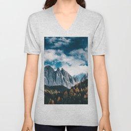 dolomites mountains Unisex V-Neck
