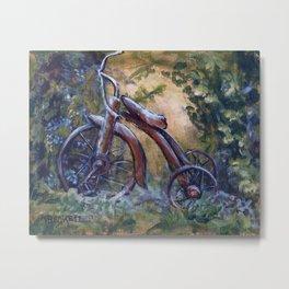 Rustic Tricycle Metal Print