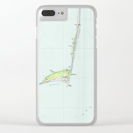 Cape Hatteras National Seashore Map (1985) Clear iPhone Case